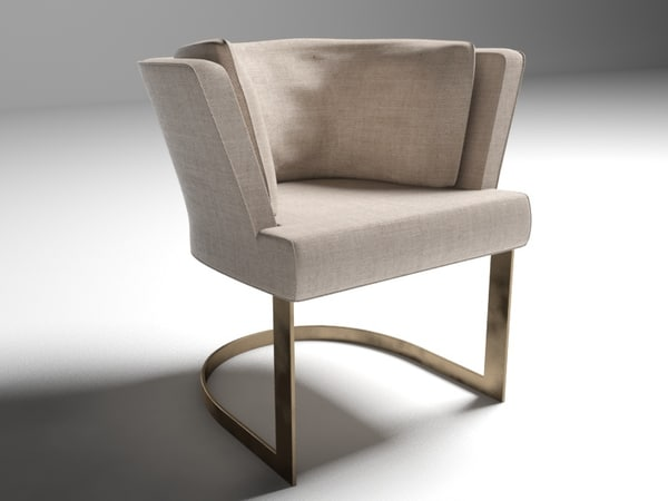 linteloo verden cervino dining chair 3ds
