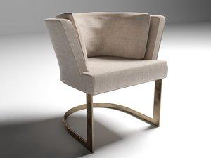 linteloo verden cervino dining chair 3ds