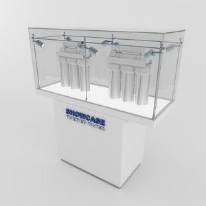 3d model of showcase 01