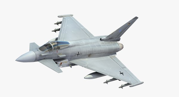 typhoon jet fighter luftwaffe 3d max