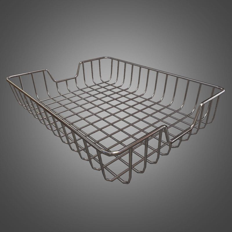 3d metal paper bin - model