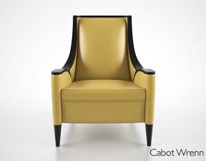cabot wrenn chair 3d max