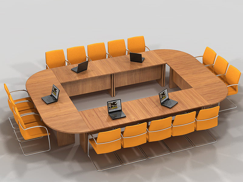3d model meeting table ta