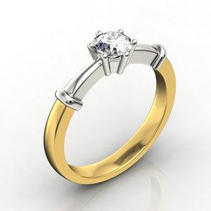 3d model engagement ring