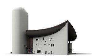 3ds max notre-dame-du-haut ronchamp church