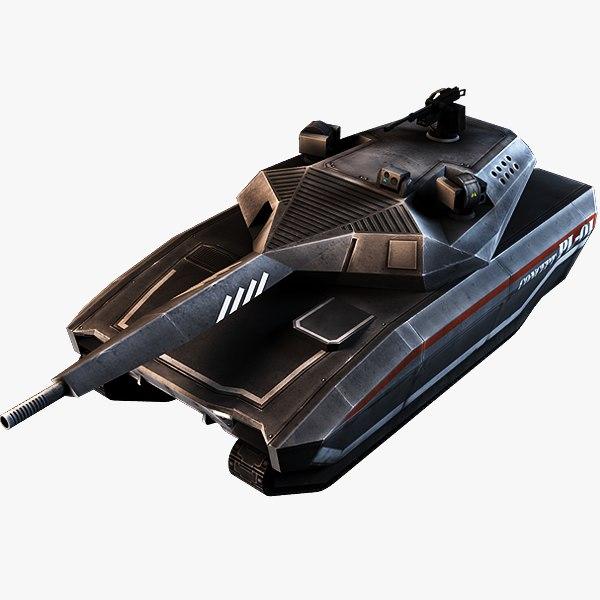 3d polish concept tank model
