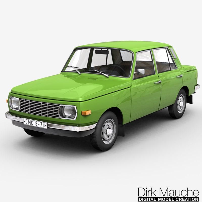 353 sedan 3d model