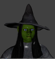 free scary rigged witch 3d model