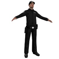 security agent 3d model
