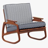 max baxter ingrid rocking armchair