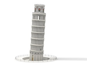 leaning tower pisa 3ds