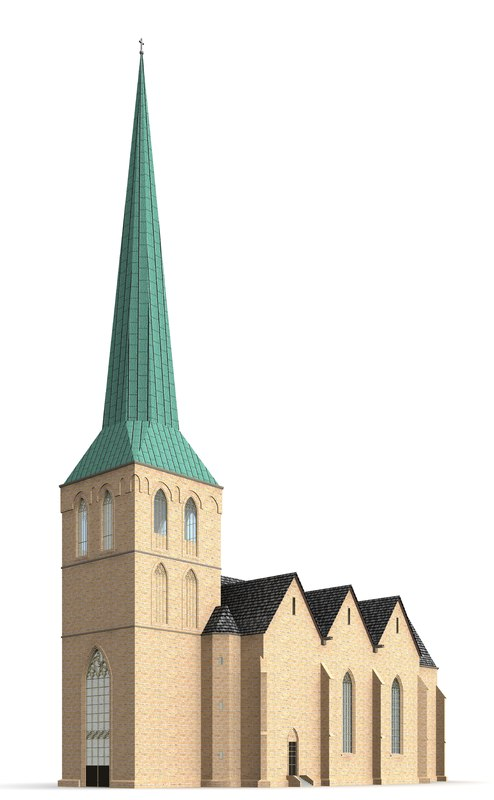 3d st church model