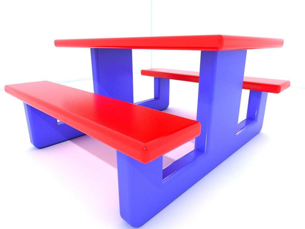 3dsmax bench seat