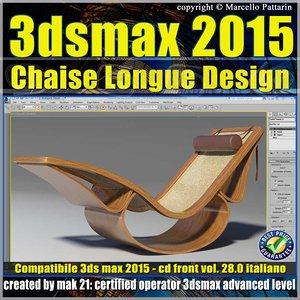 Video Corso 3ds max 2015 Chaise Longue v.28 Italiano cd front