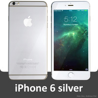 3d model modelled iphone 6 silver