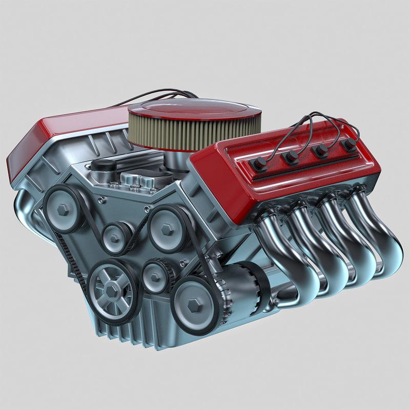 car engine - 3d 3ds