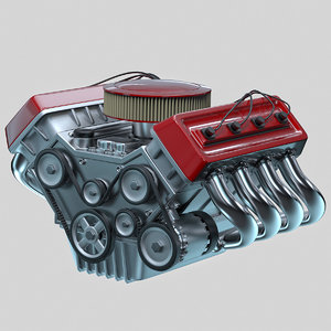 car engine - 3d 3ds