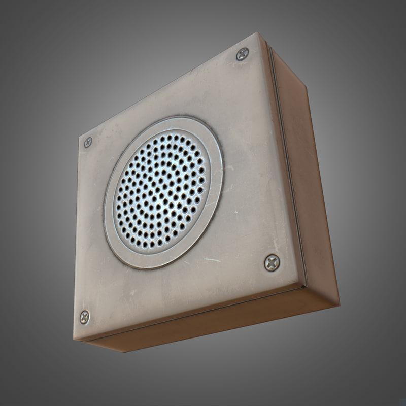 3d wall announcement speaker - model