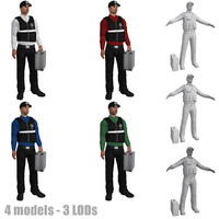 3d model pack rigged csi agent