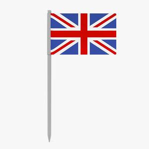 3d uk flag model