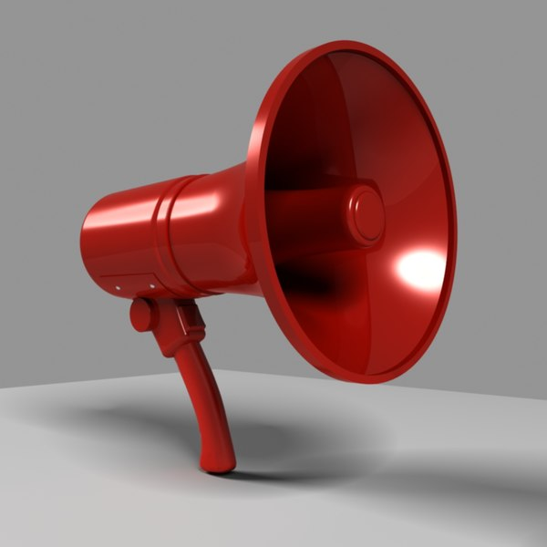 3ds max red megaphone