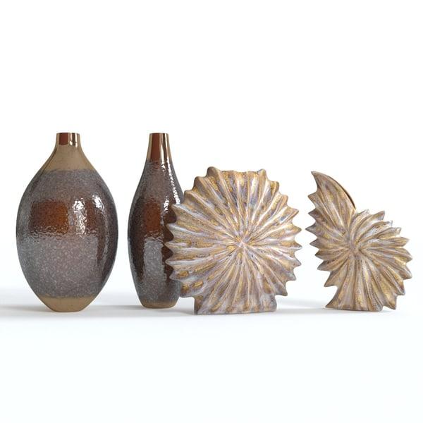 3d model decor set vases