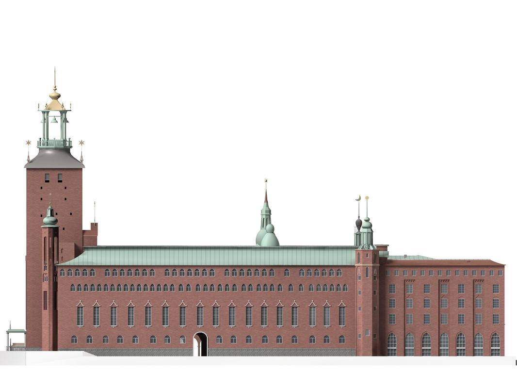 stockholm city hall 3d model