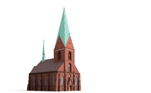 3d model church kiel gothic