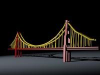 3d golden gate bridge model