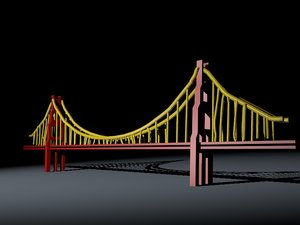 3d golden gate bridge model