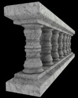 3d marble balustrade