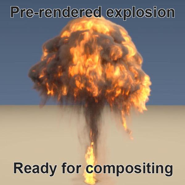 3d pre-rendered explosion render