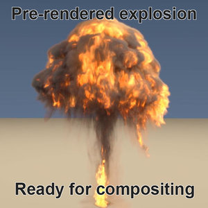 3d pre-rendered explosion render