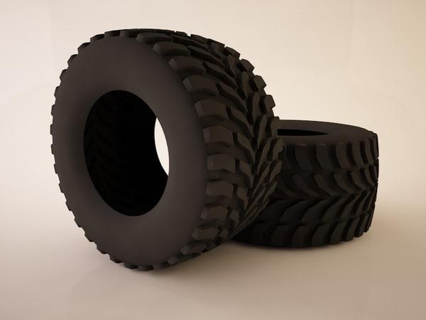 3d small tire model