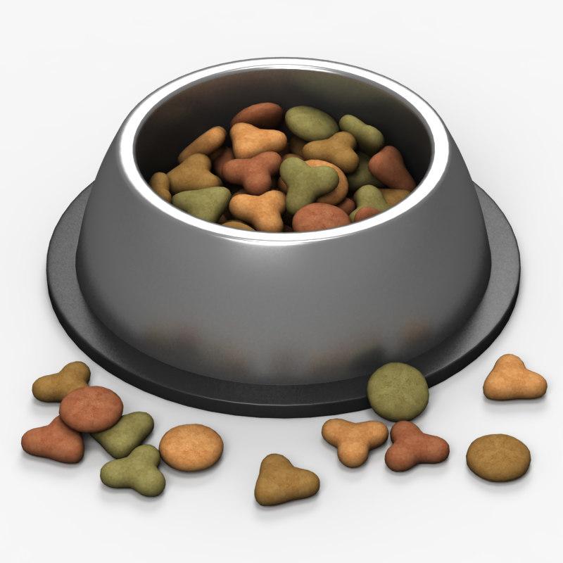 pet food bowl 3d model