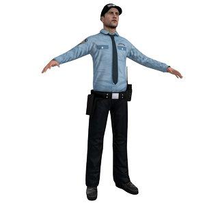security agent 3d model
