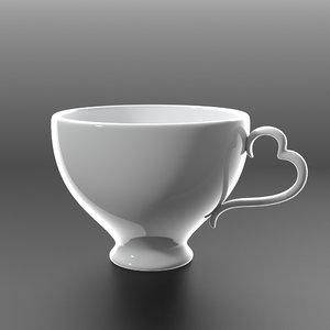 3d elegant coffee cup model