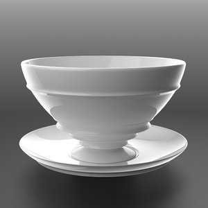 cup saucer 3d max