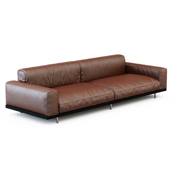 3d model of sofa naviglio