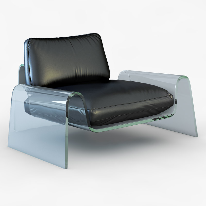 3d spider lounge chair model