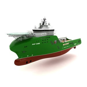 3d ship port model