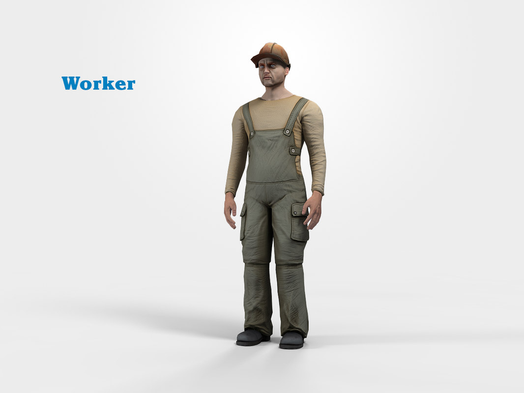 worker character 3d max