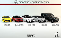 Big Mercedes-Benz AMG Car Pack-Collection