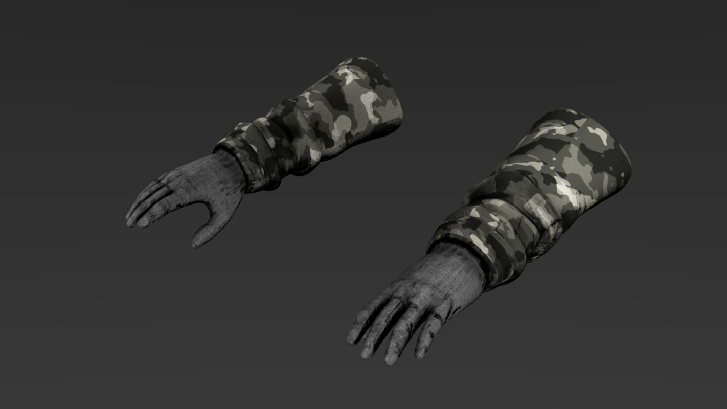 3d model hands first-person