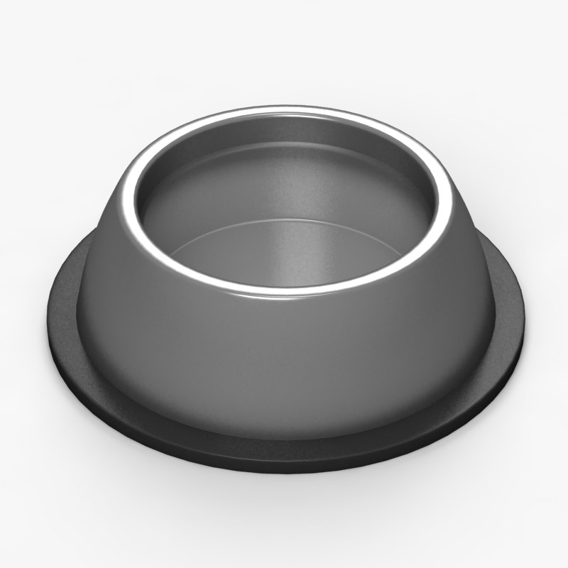 pet water bowl 3d max