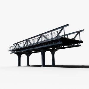 3d resolution train railway bridge model