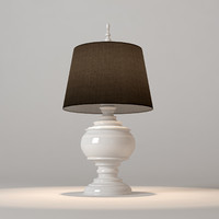 Horchow White Burma Lamp
