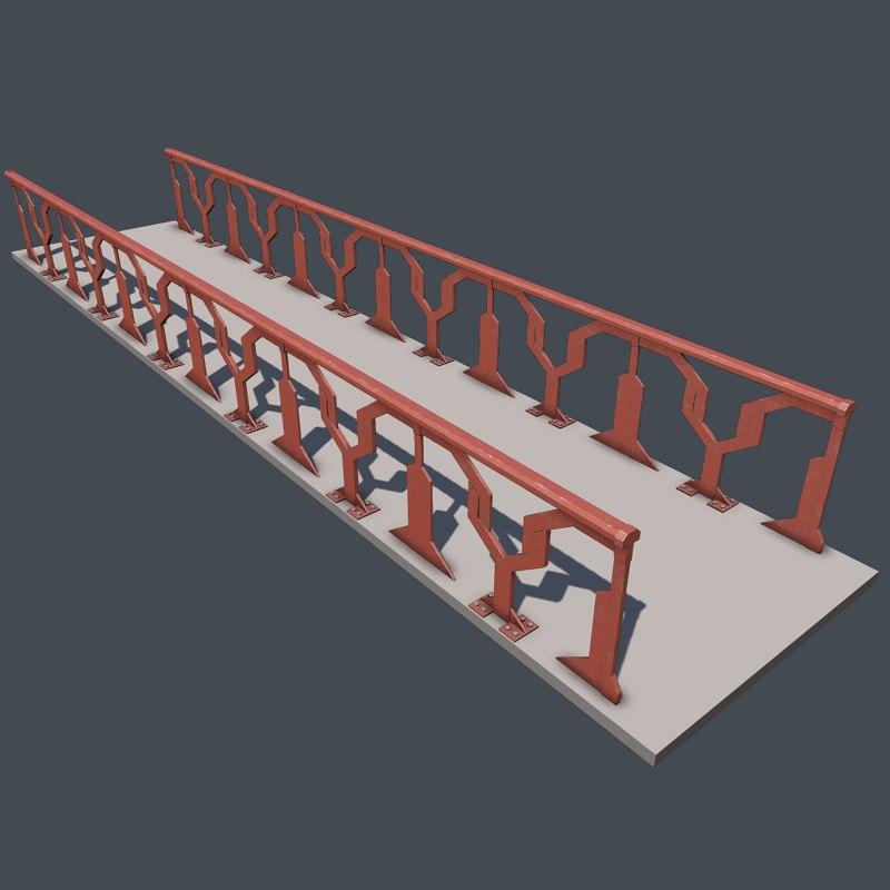 free 3ds model modular railing