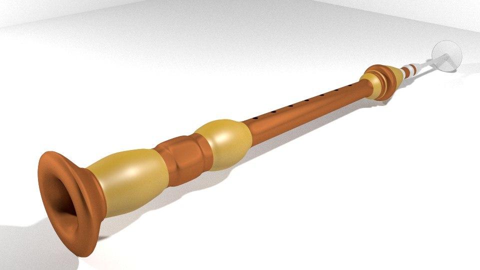 3d model serunai musical instrument