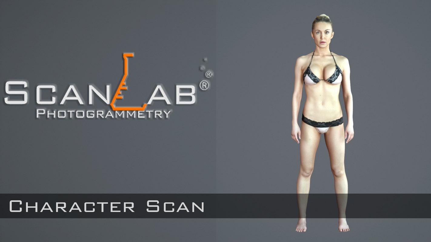 female body scan - 3d model